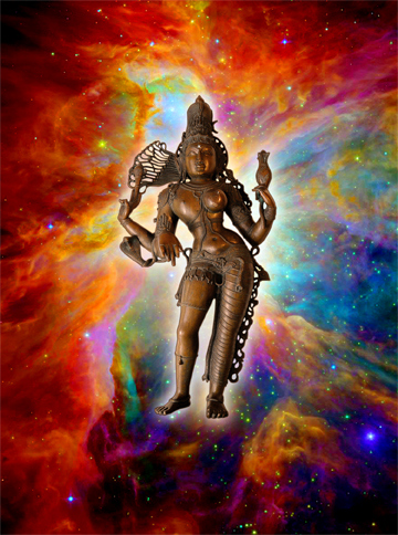 ardhanarisvara with nebula