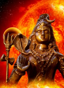 Lord Siva with Sun in the background