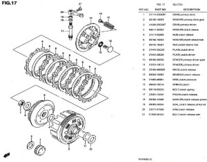 Diagram Part Kopling Satria FU