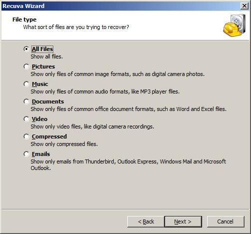Recover file android yang terhapus dengan recuva