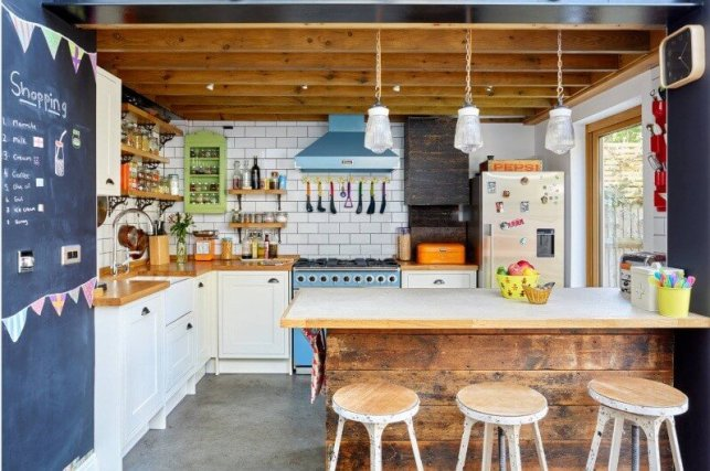 Colorful Country Kitchen with Fun Decor - happy-horrororg