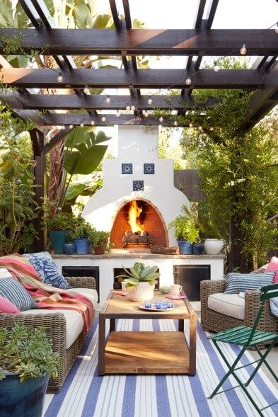 Outdoor Kitchen Ideas with Fireplace - fluxstiriinfo