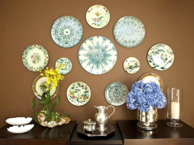 Decorative Plate Walls - hgtvcom