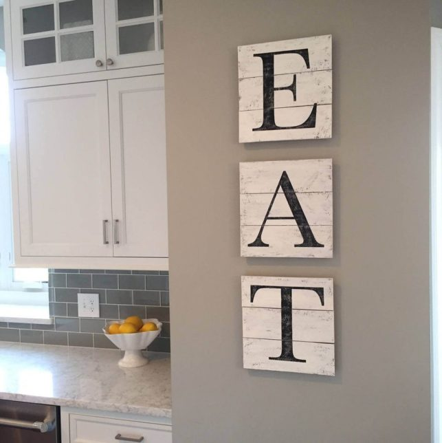 Simple Wood Pallet EAT Sign - etsycom