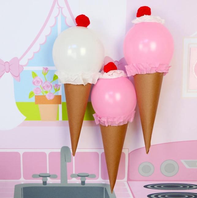 Balloons Ice Cream for Birthday Decoration Ideas - bloggercom