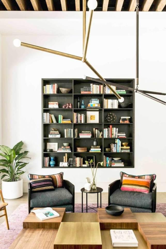 Bookshelf in Modern Living Room Ideas - pinterestcom