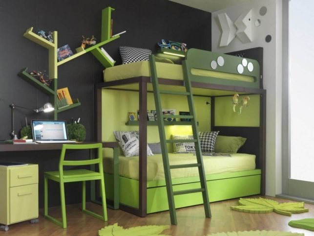 Bunk Bed for Kids Ideas with Green Natural Touches - edilportalecom