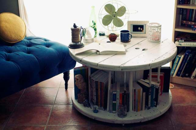 Fantastic Library Table from Old Spool - domoholicru