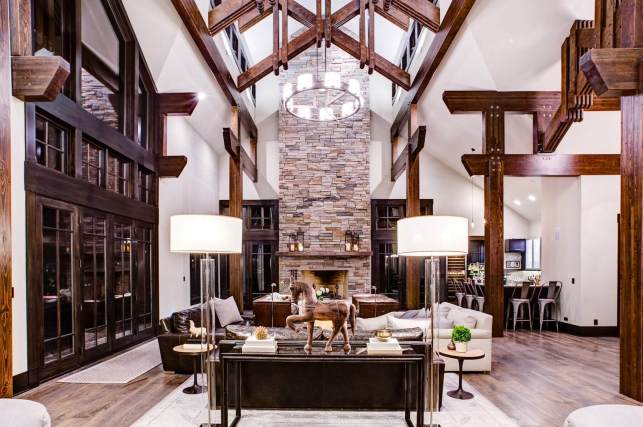 Luxury Large Rustic Living Room Ideas - pinterestcom