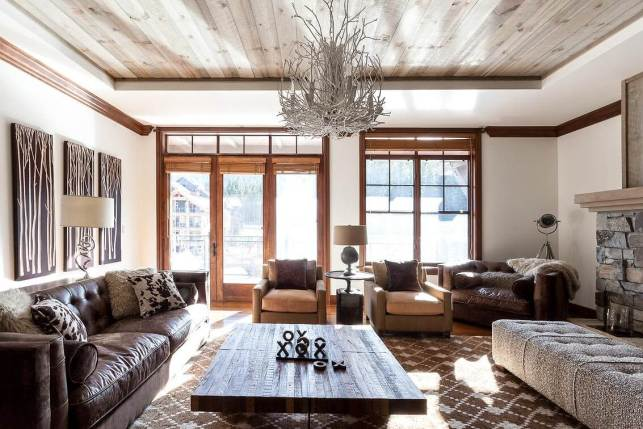 Rustic Living Room Ideas with Twigs Chandelier - twittercom