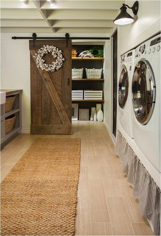 Rustic Neutral Laundry Room Ideas - binladenseahuntcom