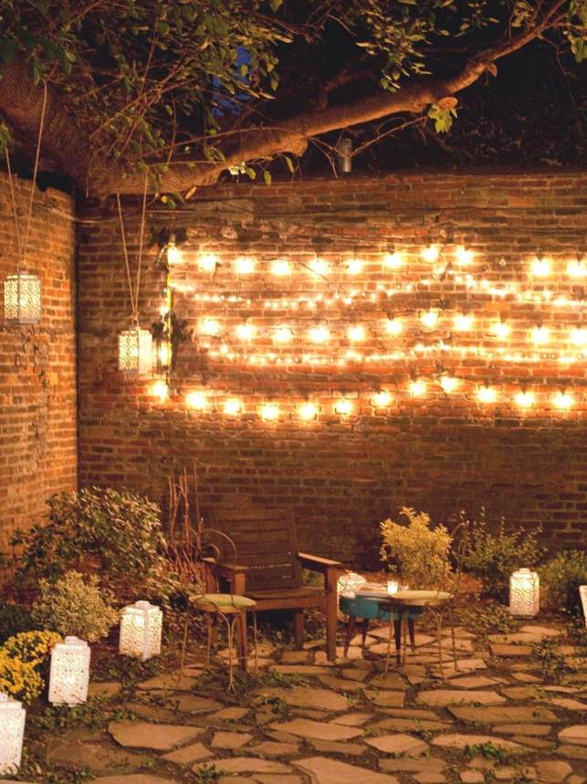 String Lights for Outdoor Birthday Decoration Ideas - themprojectscom