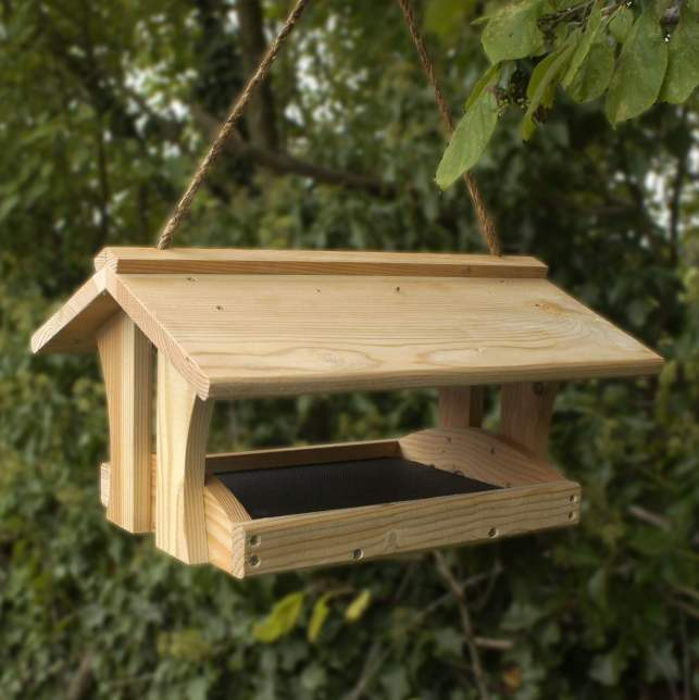 Wooden Bird Feeder - pinterestcom