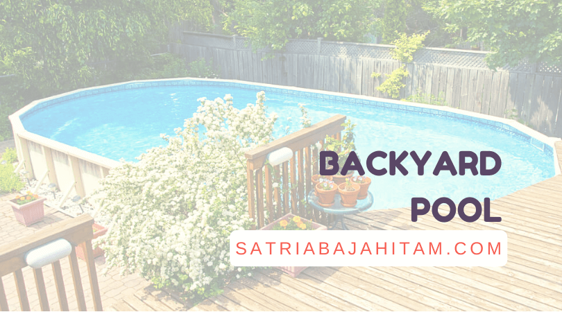 backyard pool ideas above deck small