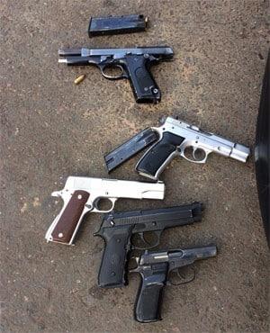 Five BMW hijackers nabbed with gun stash