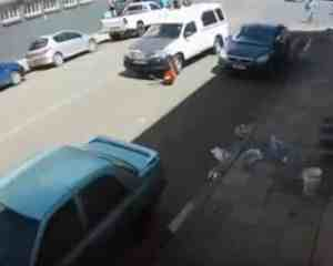 WATCH: Car drags woman down street in shocking hit-and-run