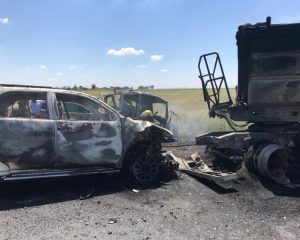 Two killed, four injured in Delmas two truck and car collision