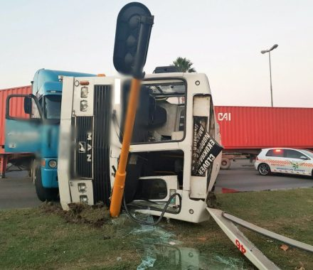 Truck And Bus Collide On Bayhead Road Injuring Two