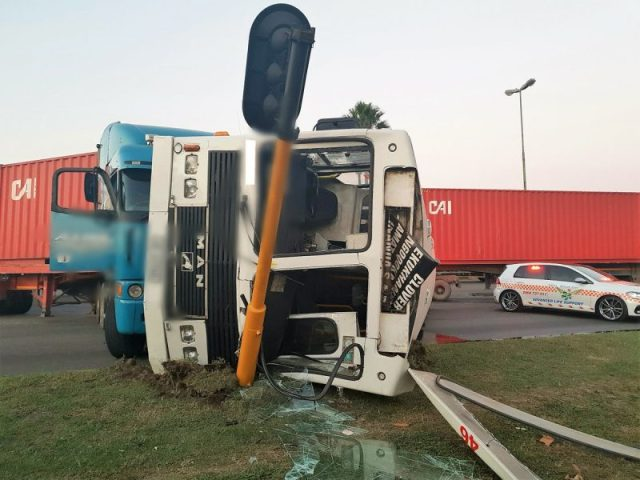 bus and truck crash