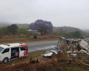 Driver, Three Passengers Killed In N4 Nelspruit Truck Rollover