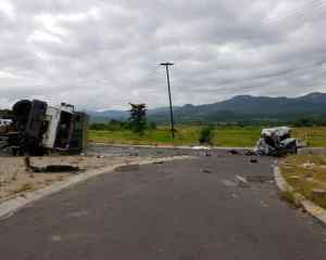 Seven killed in horror truck vs taxi crash near Nelspruit