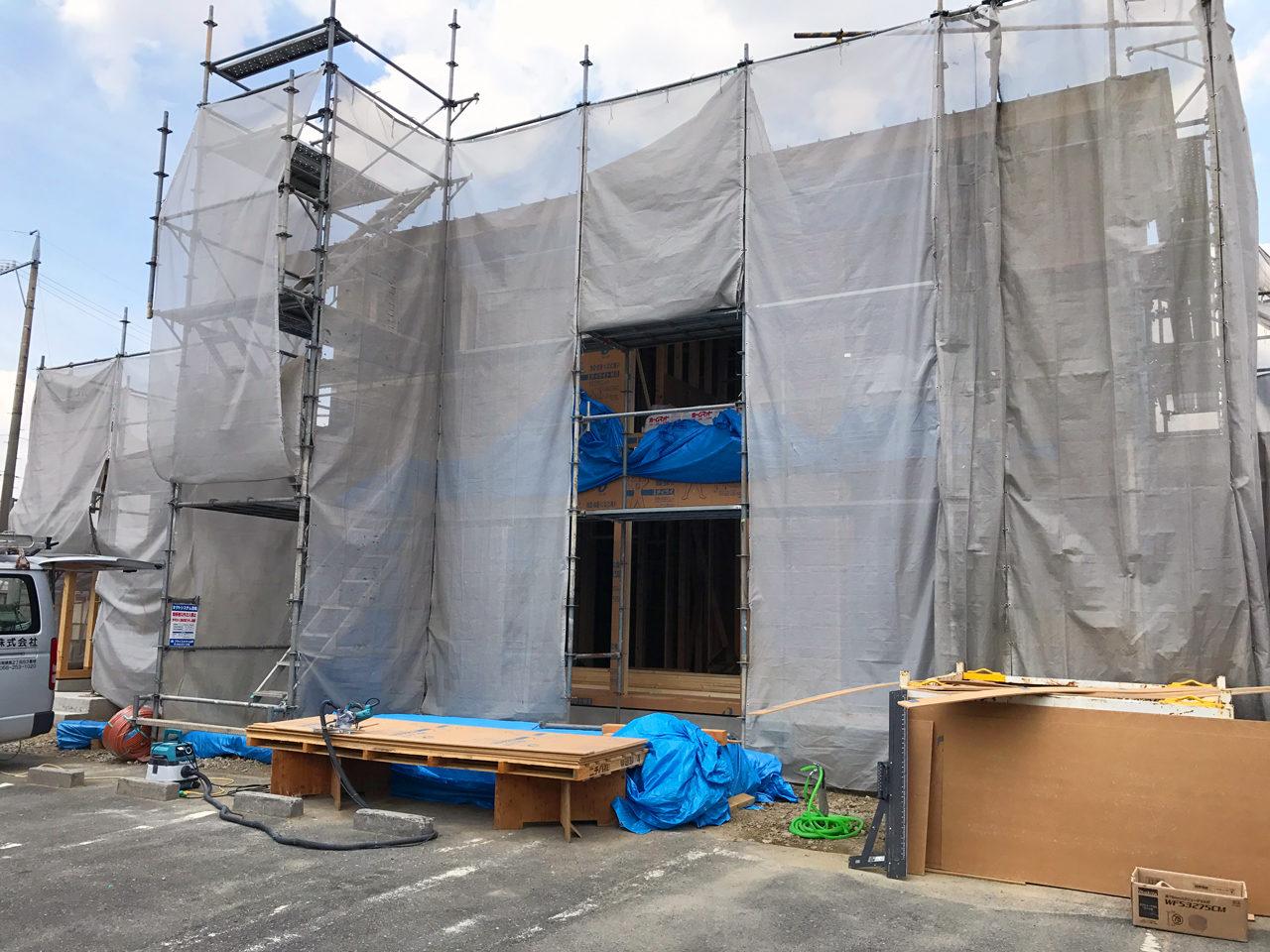 市街化調整区域の建て替え新築設計・デザインをしている住宅の現場監理へ