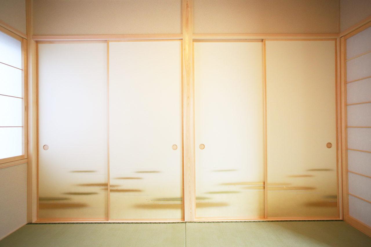 建て替えの設計・デザインをした老後を夫婦で楽しく暮らすバリアフリー注文住宅の押入れと襖と和室
