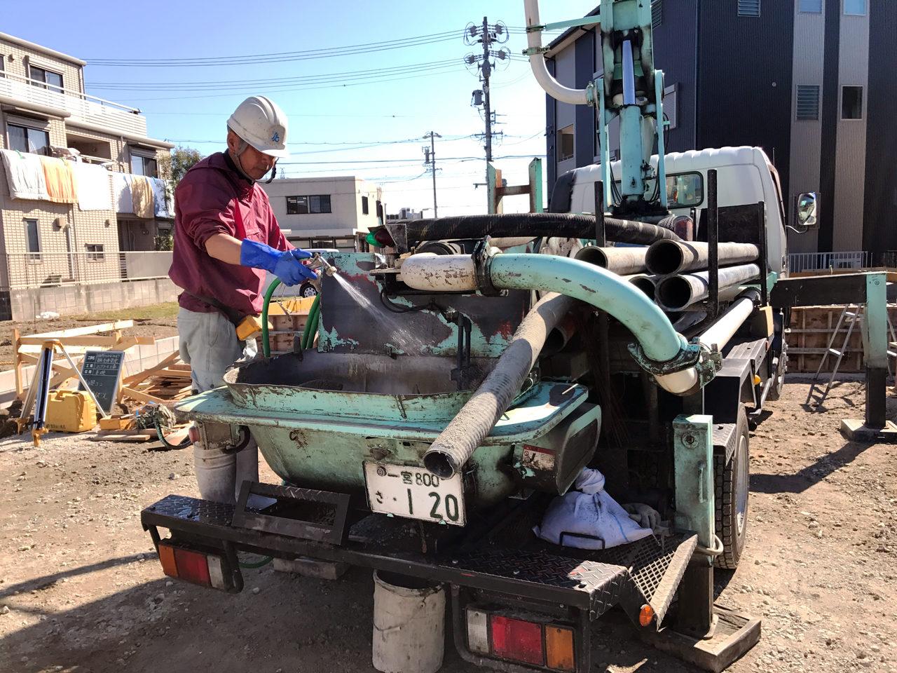 開院・開業支援をさせていただいた店舗(鍼灸接骨院)付き住宅の基礎コンクリート打設