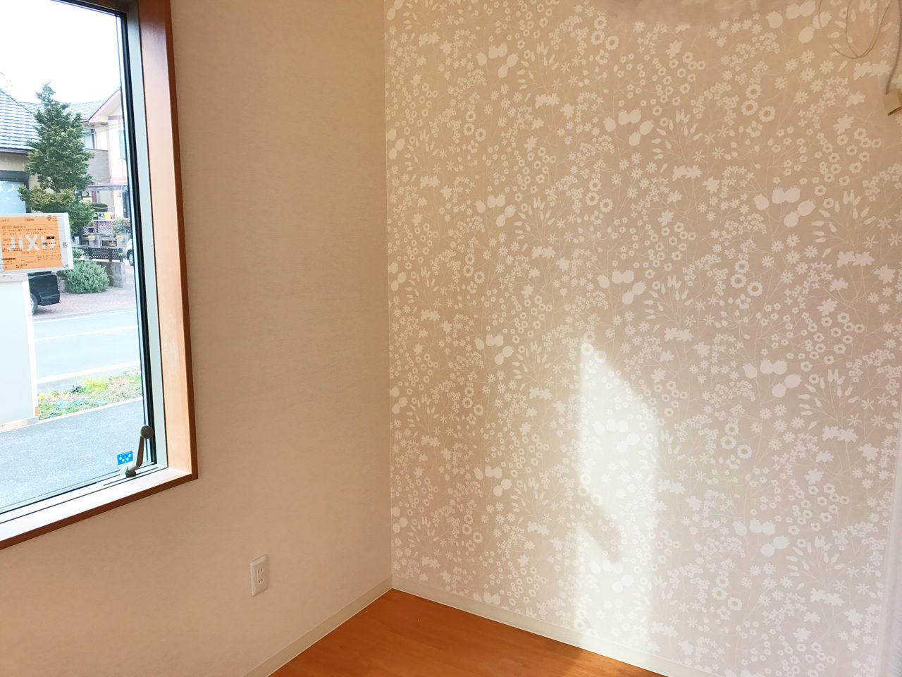 レディース治療院(はり・あん・マッサージ)付き二世帯住宅の明るくかわいい待合室