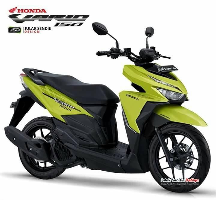 Reka Desain New Vario 125 150 Facelift 2018 Pakai Stang Telanjang