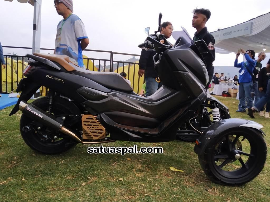 Edian Modifikasi Yamaha Nmax 155 Pakai Dua Roda Di Depan Satuaspal Com