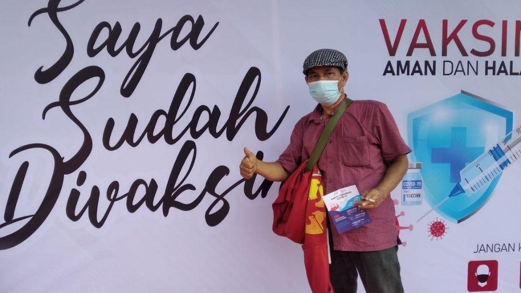 Anaknya Ikuti Vaksin Presisi, Wartawan Ini Ucapkan Terima Kasih ke Polda Metro