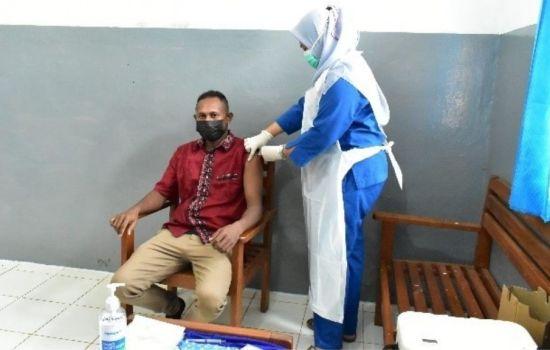 PT. TSE Melaksanakan Vaksinasi Covid-19 Masyarakat Boven Digoel