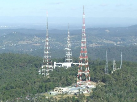 Mount Coot-tha Transmission Towers (Courtesy of World Radio Map)