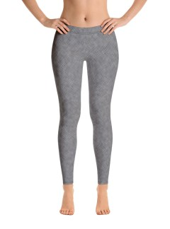 Grey Cross-stitch Leggings