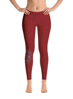 Red Camo with Shield Leggings
