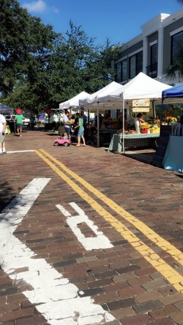 Stroll down old brick roads as you discover the market's unique stands!