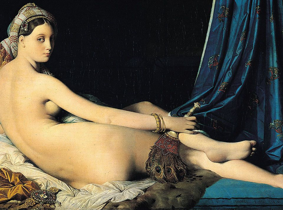 The Grand Odalisque by Jean Auguste Dominique Ingres, oil on canvas