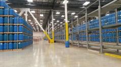 The pristine factory floor