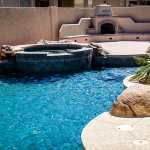 Waterfall, grotto, spa, beach entry, fireplace, BBQ, Phoenix AZ