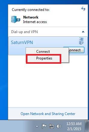 Setup PPTP VPN Windows 7 - SaturnVPN