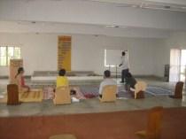Class going on in Ashram