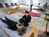 Student practising pran therapy