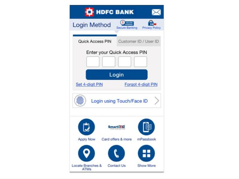 HDFC Upgrades its Mobile Banking App