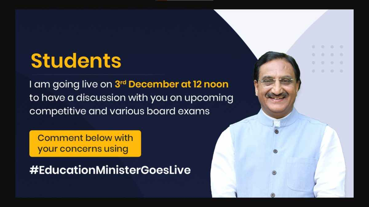 India's Education Minister to Interact with Board Students on December 3