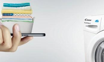 Bezprzewodowe połączenie, dzięki technologii Smart Touch w suszarce do ubrań Candy GVS H10A2TCE-S