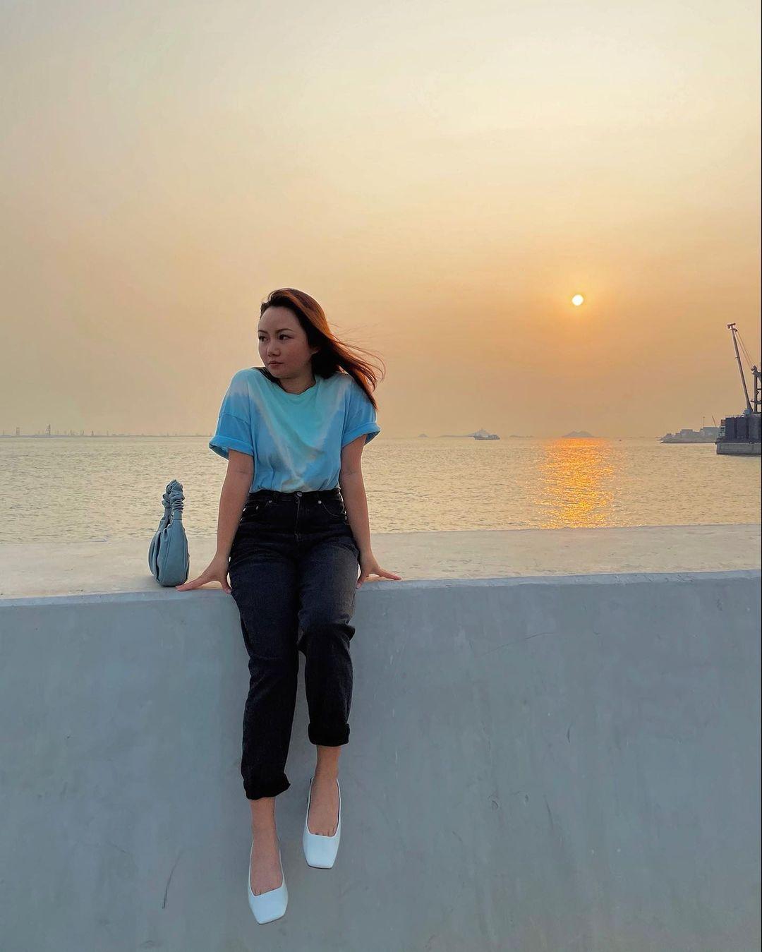 連綿不斷的海堤,能坐享270度的無敵海景。黃昏來臨時,更能觀賞超闊海平線日落!(圖片來源:IG@agneschoy)