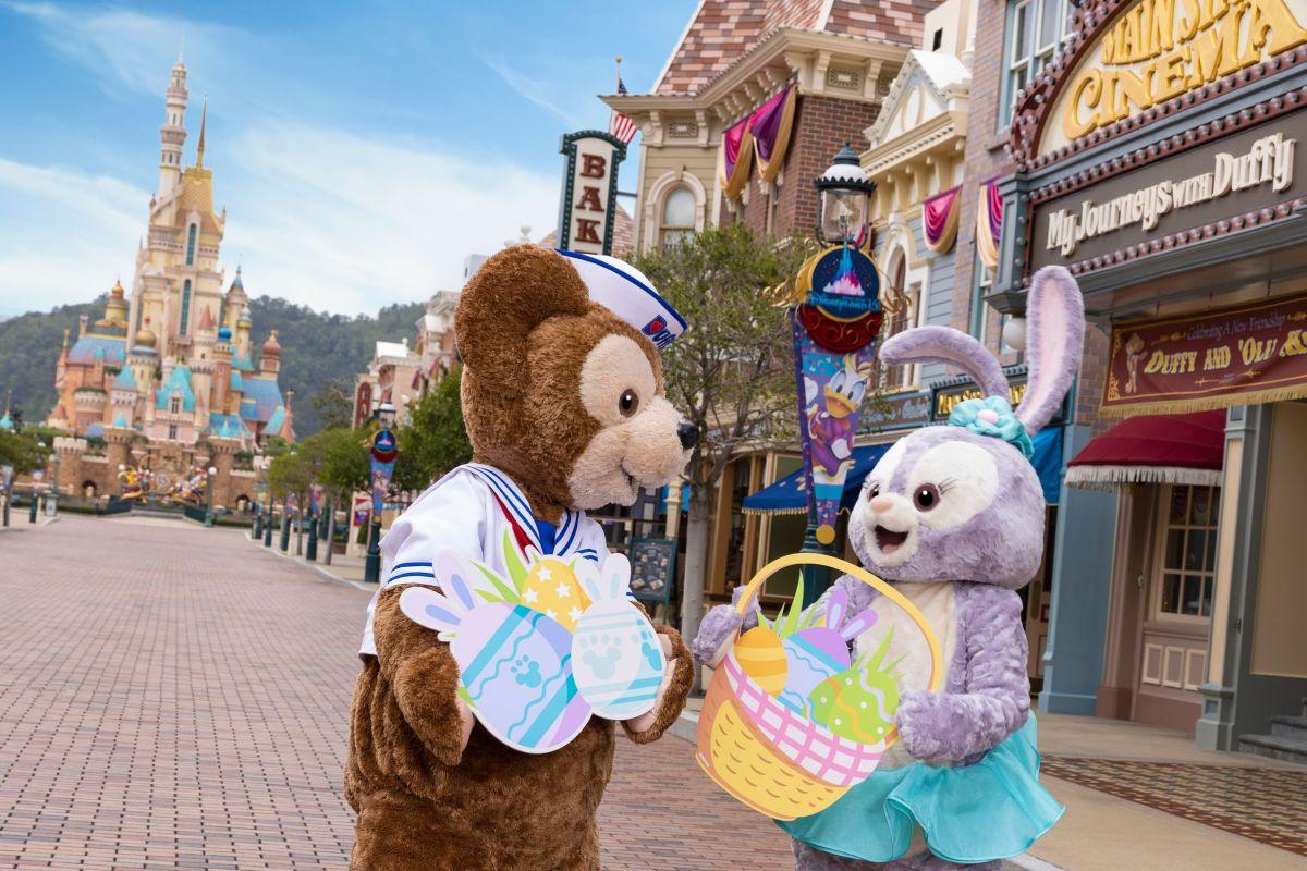 今年復活節,園內將以Duffy與好友為題同慶節日,Duffy、ShellieMay、Gelatoni、StellaLou、CookieAnn及新朋友 'Olu Mel 將拿著復活節限定裝飾現身