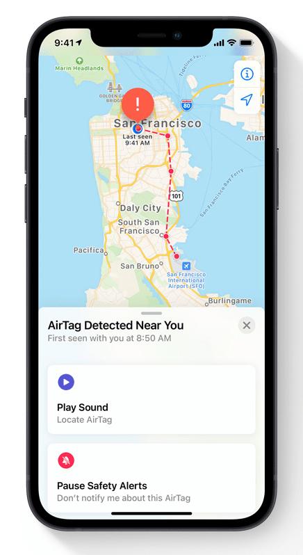 AirTag 的防追蹤功能