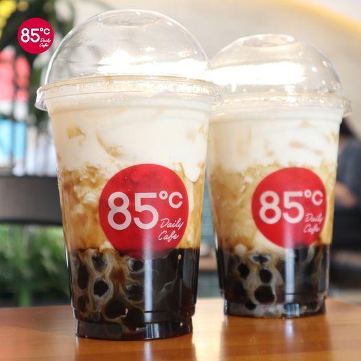 85度C 珍珠奶茶 卡路里 : 605 kcal(圖片來源:FB@85度C)